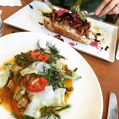 Långa och grismacka på #restaurangtugg #södermalm #stockholm #lunch #seafood #pork