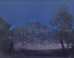 Nocturne Landscape   -    Tito Cittadini  Argentine,  1886- 1960  oil on canvas