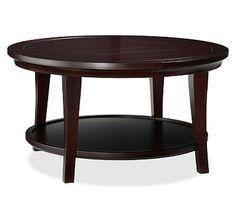 Metropolitan Round Coffee Table, Espresso stain