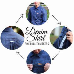 Details of our denim shirt. Lets check at our ig: soulshift.