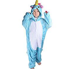 f3b4d6fcefad8 Pyjama Licorne Enfant Unicorne Animaux Unisexe Cosplay Aminal Pyjamas  Combinaison de Nuit Kigurumi Déguisement Costume Ensemble Fille Garçon  Cadeau Noël ...
