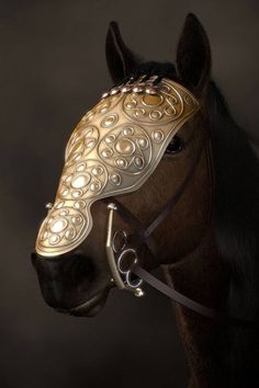 Elaborately decorated bronze horse mask from a Celtic burial at Bettelsbühl, near the Heuneburg hillfort in Baden-Württemberg, Germany  (6th c. BC)
