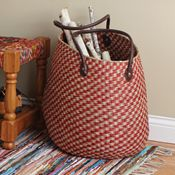 Cherry Checkered Basket