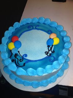 DQ cakes...Dairy Queen. Balloons