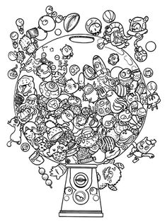Doodle coloring pages doodle invasion coloring christmas doodle coloring pages . doodle coloring pages Cute Coloring Pages, Doodle Coloring, Flower Coloring Pages, Christmas Coloring Pages, Printable Coloring Pages, Coloring Books, Monster Coloring Pages, Doodle Drawings, Doodle Art