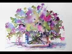 Loose Beginners 'Square Florals' with Andrew Geeson Watercolor Beginner, Watercolor Art Lessons, Watercolor Painting Techniques, Pen And Watercolor, Abstract Watercolor, Watercolor Illustration, Watercolor Paintings, Watercolours, Landscape Paintings