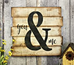 You & Me. Rustic Decor. Wood Sign. Counrty. Wall Decor. Love. Gift. Made in Canada. Distressed. by WhereTheCrowFliesCA on Etsy
