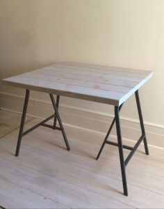 Gray Wood Kitchen Table