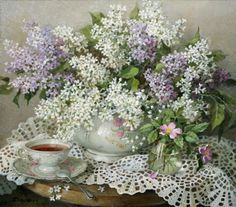 paintings of teacups - Pesquisa Google