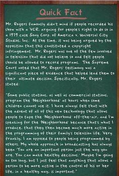 Mr. Rogers on copyright infringement #amazeballs