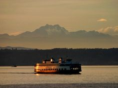 A ferry boat connects Seattle to Vashon Island and other towns west of Seattle and Tacoma.