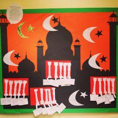 Year 3 RE display on Islam and learning from the 5 pillars.