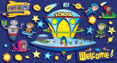 Scholastic Space School Welcome Bulletin Board « MyMallHome.com – Closest Shopping Mall on the Internet
