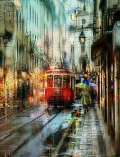 Beautiful rainy pictures by Ed Gordeev - Ego - AlterEgo Urban Photography, Street Photography, City Lights At Night, I Love Rain, Dancing In The Rain, Urban Landscape, Watercolor Art, Street Art, Photos