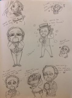 """Becuase he's a precious doll! Anywho, for those who don't know, he's called Cherik in the """"Phandom"""" due to his actor Charles Dance. Kawaii Chibi, Kawaii Anime, Opera Ghost, Charles Dance, Radio Usa, Music Of The Night, Cherik, Hobgoblin, Hamilton Musical"""
