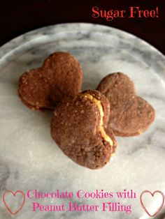 Chocolate Cookies with Peanut Butter Filling - Sugar Free and Healthy!    Squash Blossom Babies