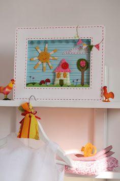 J Bar Hobbies Refferal: 1750459535 Baby Decor, Kids Decor, Felt House, Felt Pictures, Family Painting, Hobbies For Kids, Hobby House, Felt Applique, Felt Fabric