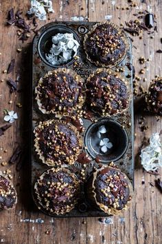 Double Chocolate Coconut oil Zucchini Muffins with Caramelized Buckwheat, delicious no sin healthy chocolate muffins! Find the recipe @ halfbakedharvest.com