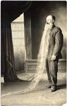 If ever there was a contender for the man who most resembles Father Time, this is it. Victorian -19th century