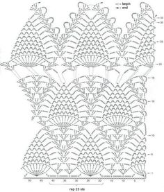 Cute Halter Top Crochet Pineapple Theme Free Pattern. ONLY the diagram below is available. More Patterns Like This!