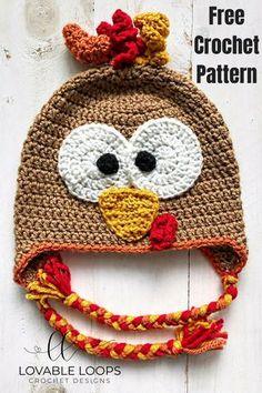 crochet for beginners free turkey hat crochet pattern - Free crochet patterns! Crochet Animal Hats, Crochet Baby Hats, Crochet Gifts, Booties Crochet, Thanksgiving Crochet, Crochet Fall, Free Crochet, Crochet Christmas, Thanksgiving Turkey