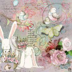 https://flic.kr/p/TV6kBz | SPRING! |   For a challenge at JustArt. Elements from Vicki Stegall, Anna Aspnes, Agnes Biro, Gunhild, Babinetky, Christine Smith, Feli, Jilbert, mmarie, Rainbow Designs, Simply Kat Designs, and Vicki Robinson. #artjournal #digitalartjournaling #digitalart