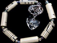 I Heart Music Car Charm w/Swarovski Crystal Heart & by justByou, $10.00
