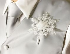 Winter Wedding Boutonniere - Crystal Snowflake Boutonniere - Grooms Boutonniere for a Winter Wonderland Wedding - Christmas Wedding Frozen Wedding, Snow Wedding, Winter Wonderland Wedding, Christmas Wedding, Wedding Groom, Winter Wedding Favors, Winter Wedding Decorations, Winter Wedding Flowers, Winter Weddings
