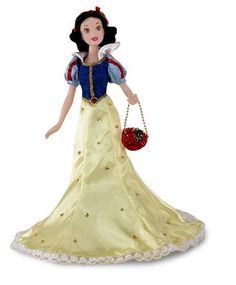 AmazonSmile: Disney Princess Special Edition Sihlouette Snow White and the Seven Dwarfs Porcelain Doll: Toys & Games