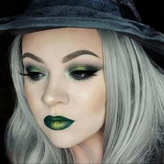 Introducing THE REVOLUTION WITCH! Using the Give Them Nightmare palette, Amazing liquid liner, Serpent lipstick and Shameful eye dust/loose pigment (centre of lid and lips).