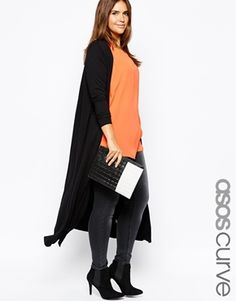 ASOS CURVE Exclusive Maxi Cardigan In Jersey
