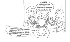 Zikreden dil ve şükredrn kalbe sahip olmak Morals, Kids Education, Preschool Activities, Cartoon, Bulletin Board, Children, Engineer Cartoon, Cartoons, Boys