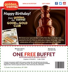 photograph about Golden Corral Coupons Buy One Get One Free Printable named 34 Excellent Golden Corral Discount coupons photos in just 2014 Golden corral