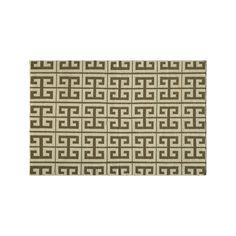 Momeni Dhurry Laguna Geometric Wool Rug, Beig/Green (Beig/Khaki)