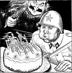 Caricature de Leslie Illingworth paru dans le Daily Mail le 22 février 1943