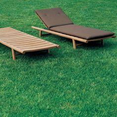 ORSON 008 - Contemporary sun lounger / teak / garden / adjustable backrest by RODA Pool Patio Furniture, Garden Furniture, Furniture Design, Outdoor Furniture, Outdoor Loungers, Outdoor Chairs, Outdoor Decor, Patio Vintage, Ottoman Furniture