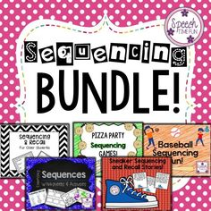 Speech Time Fun: Sequencing Bundle.  5 motivating activities to work on sequencing!  Save money and time with this fun bundle!!