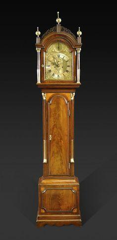 A George III Mahogany Longcase Clock, Signed Thos Bayley, London - Hyde Park Antiques, Ltd.