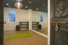 Yoga studio. Use a spare bedroom or office to create a simple yoga studio. Ambient lighting, yoga mats and a mirror are all you need for this zen oasis. It's an easy way to exercise at home, and the cost is minimal.