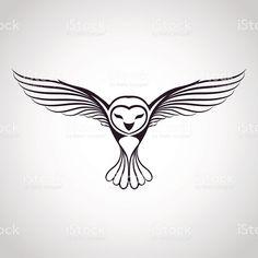 owl icon royalty-free stock vector art