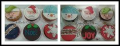 Christmas Themed Cupcakes 2015 @ Cake Belle Cakes