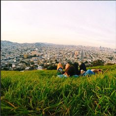 Bernal Heights Hill - perfect for sunset  http://www.refinery29.com/romantic-spots-in-san-francisco#slide-21  For A Solid City View: Bernal Heights Hill Trust us, the hike is worth it. For romantic bonus points, aim to be there around sunset to catch S.F.'s golden-hour glow.  Bernal Heights Hill, Bernal Heights Boulevard (near Folsom Street); no phone.