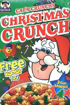 Because nothing was more delicious than green and red cereal (aka colored SUGAR). | 32 Reasons Why Christmas Was Better In The '90s