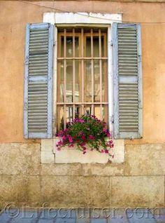 La Cadiere window, France