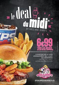 Les Deal du Midi #gregandjerrys #burger #livraison #lyon