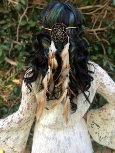 Large Brown Dreamcatcher Headband #A1021