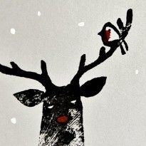 Im on a tight budget so heres a photograph of my Christmas card for all those who wont receive one. I love you all dearly. Merry Christmas and Christmas Card Crafts, Christmas Greeting Cards, Christmas Art, Christmas Projects, Winter Illustration, Christmas Illustration, Stamp Carving, Handmade Stamps, Linoprint