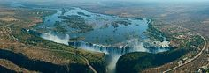 Victoria Falls, Zambia and Zimbabwe border, 360 Degree Aerial Panorama • 3D Virtual Tours Around the World