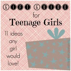 I need this! Teenage girls are the hardest to buy for. Great gift guide written by 2 teen girls! Be sure to check out for great ideas as you are shopping.