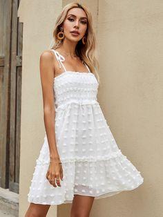Romper Dress, Dress Hats, Mesh Dress, Belted Dress, Boho Dress, White Ruffle Dress, White Sundress, Chiffon Dress, Dressy Dresses